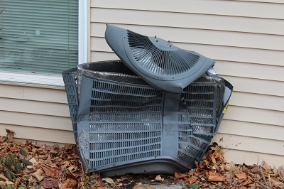 image of damaged air conditioning unit